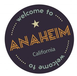 Welcome to Anahem California Sticker