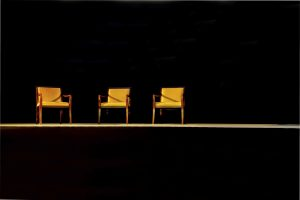 interview chairs on stage